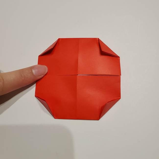 提灯の折り紙(平面)の簡単な折り方作り方②火袋(16)