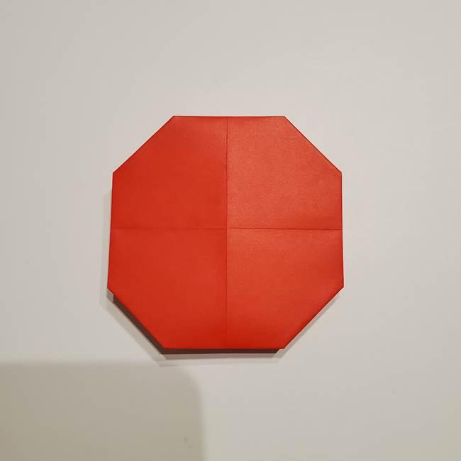 提灯の折り紙(平面)の簡単な折り方作り方②火袋(17)