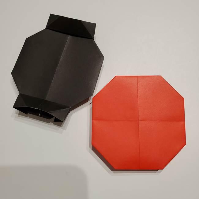 提灯の折り紙(平面)の簡単な折り方作り方②火袋(18)