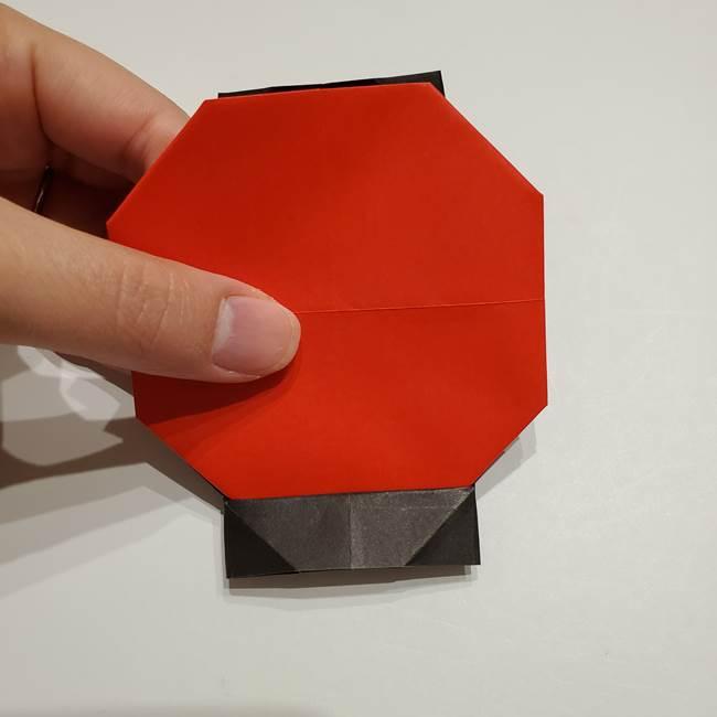 提灯の折り紙(平面)の簡単な折り方作り方②火袋(19)