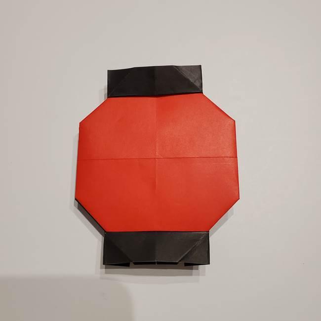 提灯の折り紙(平面)の簡単な折り方作り方②火袋(22)