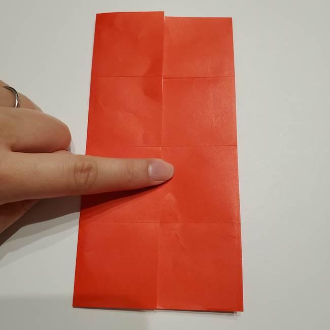 提灯の折り紙(平面)の簡単な折り方作り方②火袋(9)