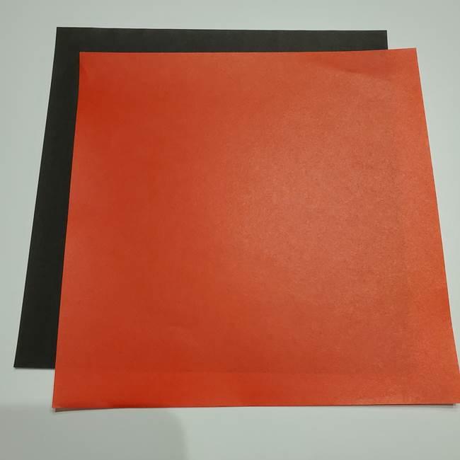 提灯の折り紙(平面)を簡単手作り♪用意するもの