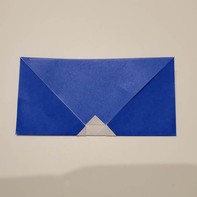 桔梗の花を折り紙一枚で立体的につくる折り方(10)