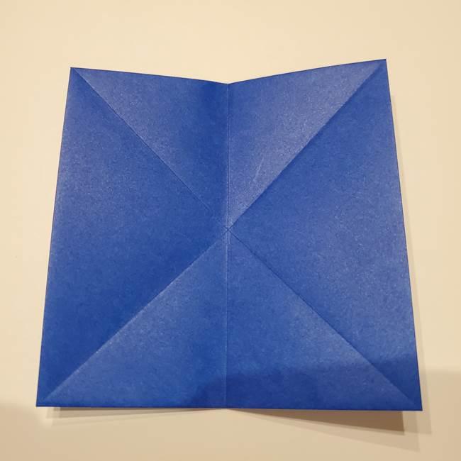 桔梗の花を折り紙一枚で立体的につくる折り方(11)