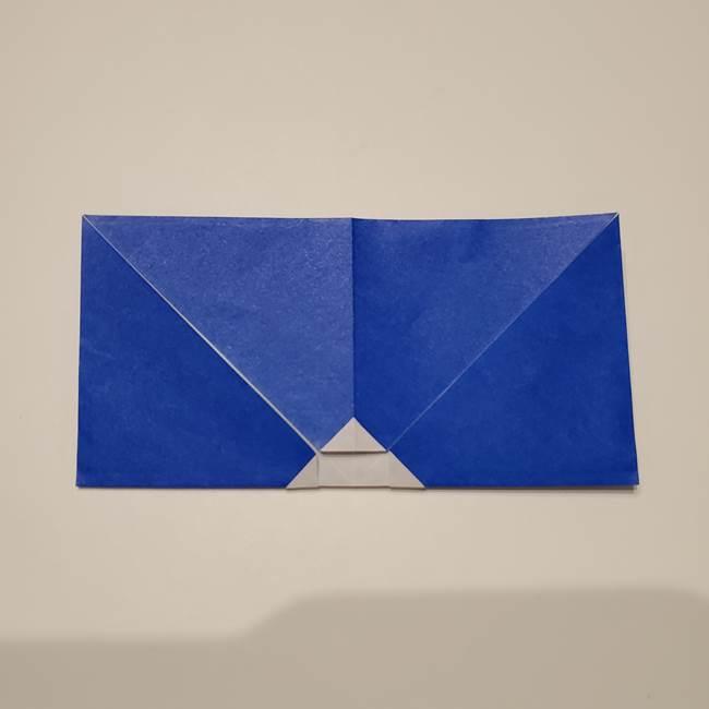 桔梗の花を折り紙一枚で立体的につくる折り方(12)