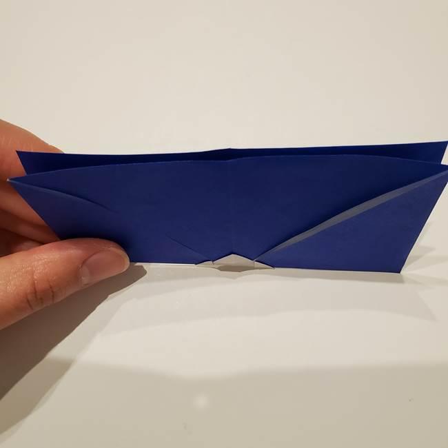 桔梗の花を折り紙一枚で立体的につくる折り方(13)