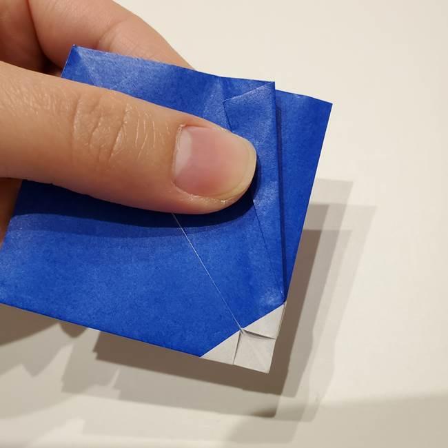 桔梗の花を折り紙一枚で立体的につくる折り方(19)