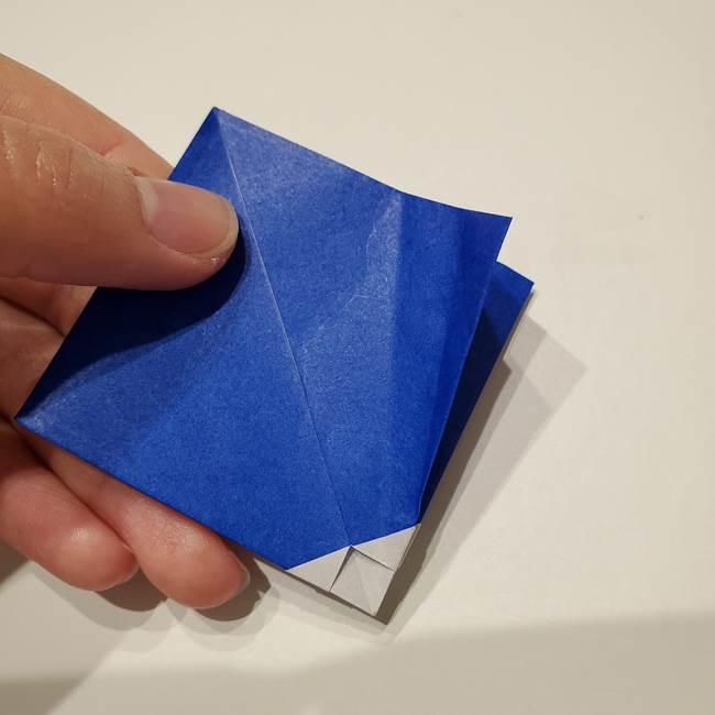 桔梗の花を折り紙一枚で立体的につくる折り方(20)