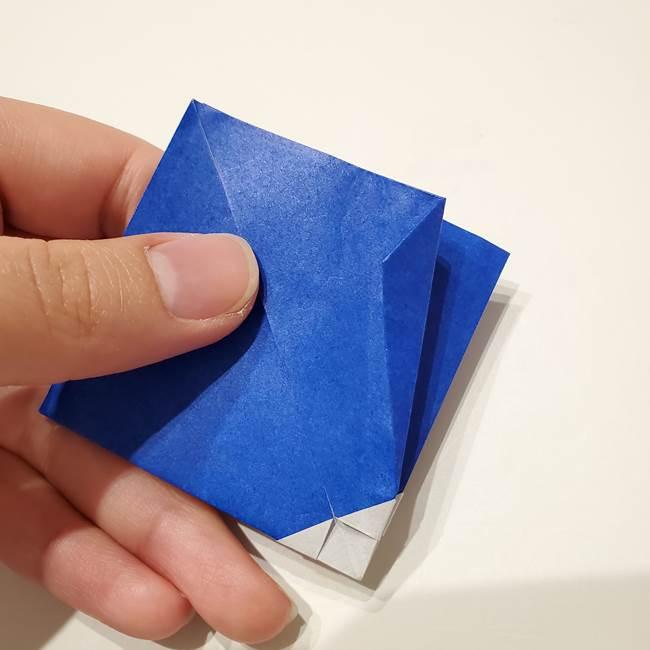 桔梗の花を折り紙一枚で立体的につくる折り方(22)