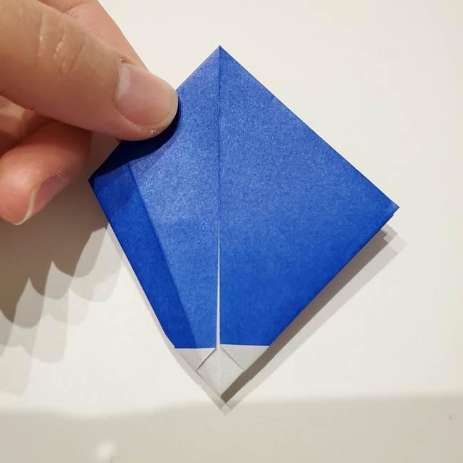 桔梗の花を折り紙一枚で立体的につくる折り方(25)