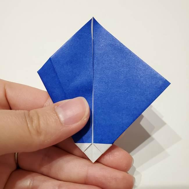 桔梗の花を折り紙一枚で立体的につくる折り方(27)