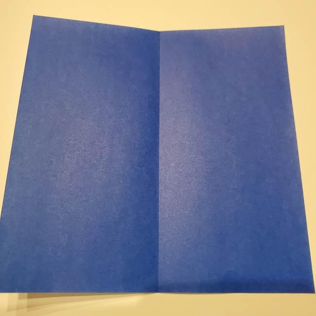 桔梗の花を折り紙一枚で立体的につくる折り方(3)
