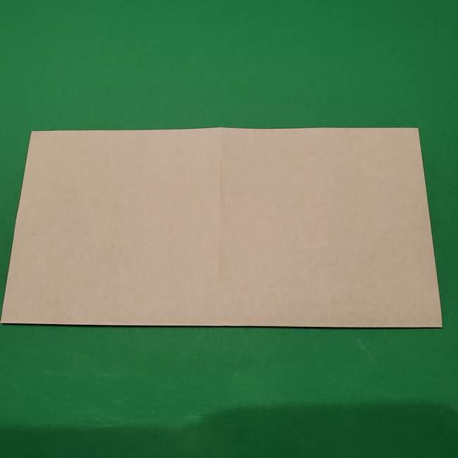 桔梗の花を折り紙一枚で立体的につくる折り方(4)