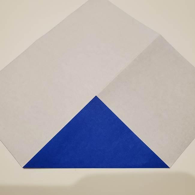 桔梗の花を折り紙一枚で立体的につくる折り方(6)