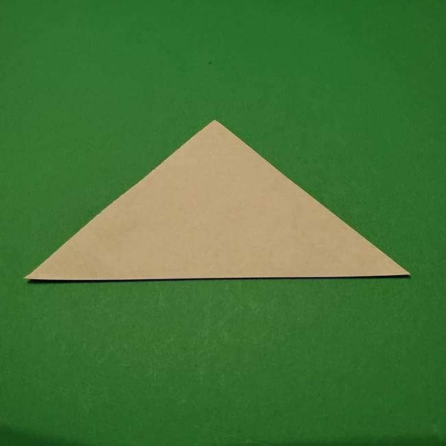 桔梗の葉っぱの折り紙 簡単な折り方作り方①葉っぱ(2)
