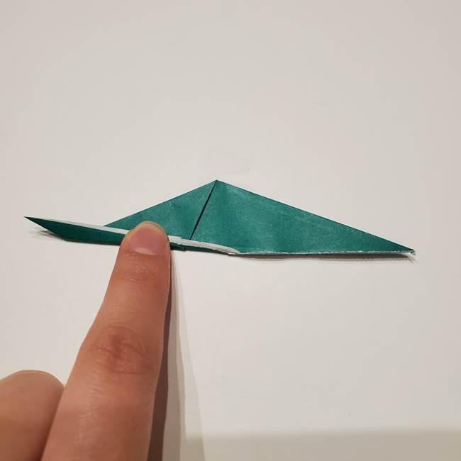 桔梗の葉っぱの折り紙 簡単な折り方作り方①葉っぱ(8)