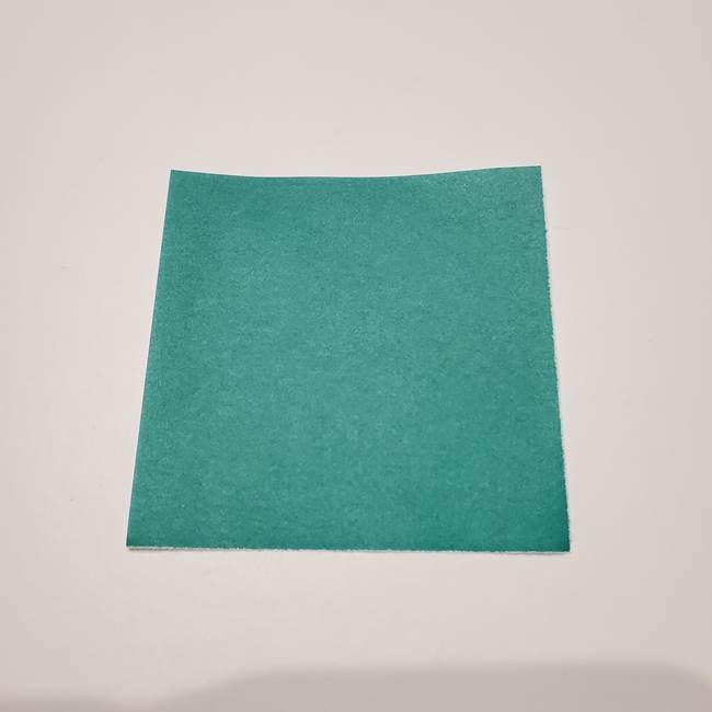 桔梗の葉っぱの折り紙 簡単な折り方作り方②ガク(1)