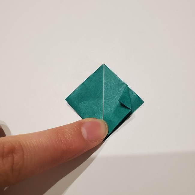 桔梗の葉っぱの折り紙 簡単な折り方作り方②ガク(17)