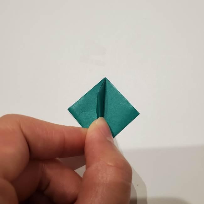 桔梗の葉っぱの折り紙 簡単な折り方作り方②ガク(19)