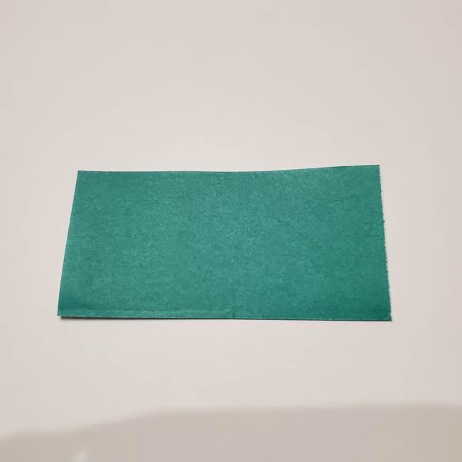 桔梗の葉っぱの折り紙 簡単な折り方作り方②ガク(2)