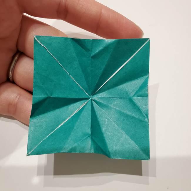 桔梗の葉っぱの折り紙 簡単な折り方作り方②ガク(24)