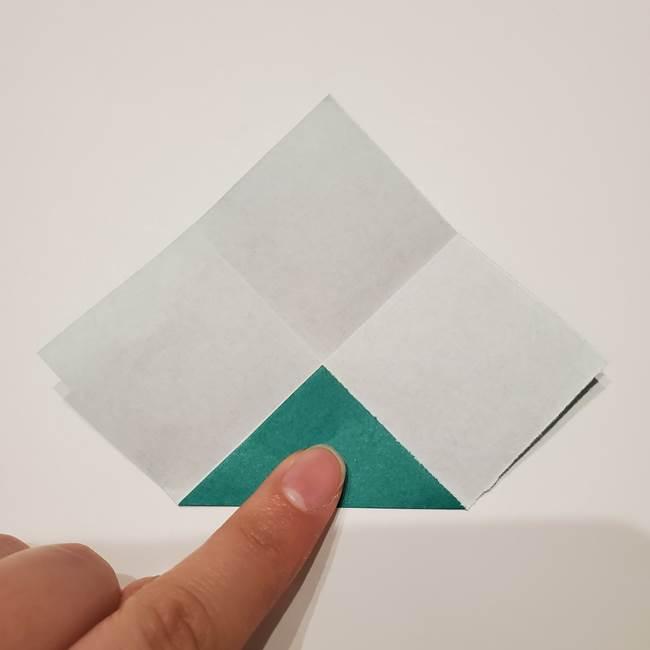 桔梗の葉っぱの折り紙 簡単な折り方作り方②ガク(6)