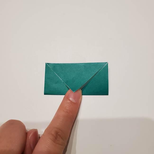 桔梗の葉っぱの折り紙 簡単な折り方作り方②ガク(8)