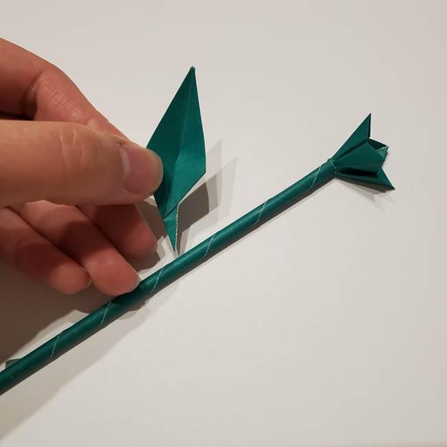 桔梗の葉っぱの折り紙 簡単な折り方作り方④完成(10)