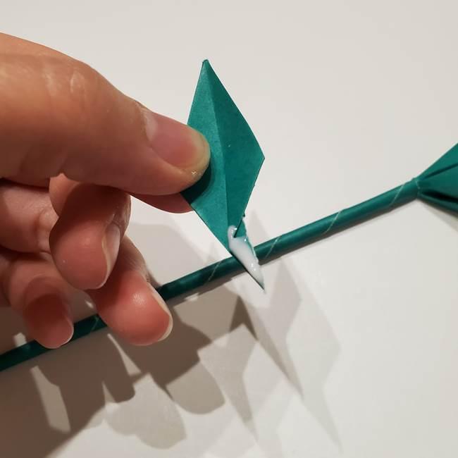 桔梗の葉っぱの折り紙 簡単な折り方作り方④完成(11)