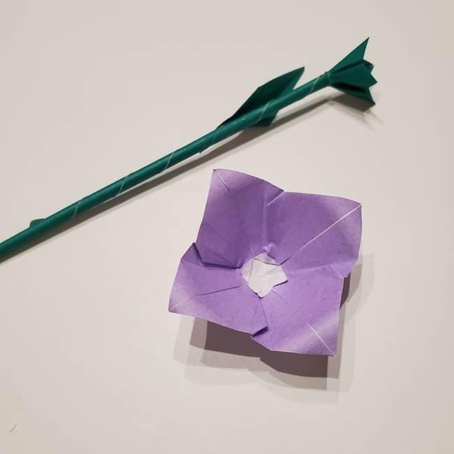 桔梗の葉っぱの折り紙 簡単な折り方作り方④完成(15)
