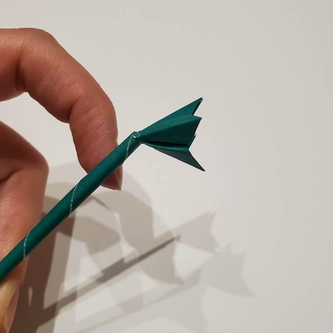 桔梗の葉っぱの折り紙 簡単な折り方作り方④完成(9)