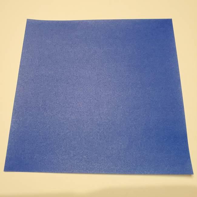 桔梗は折り紙一枚で立体的に作れる♪(1)
