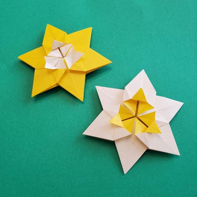 水仙の折り紙(平面)の折り方は簡単?作り方動画をみて作ってみた!