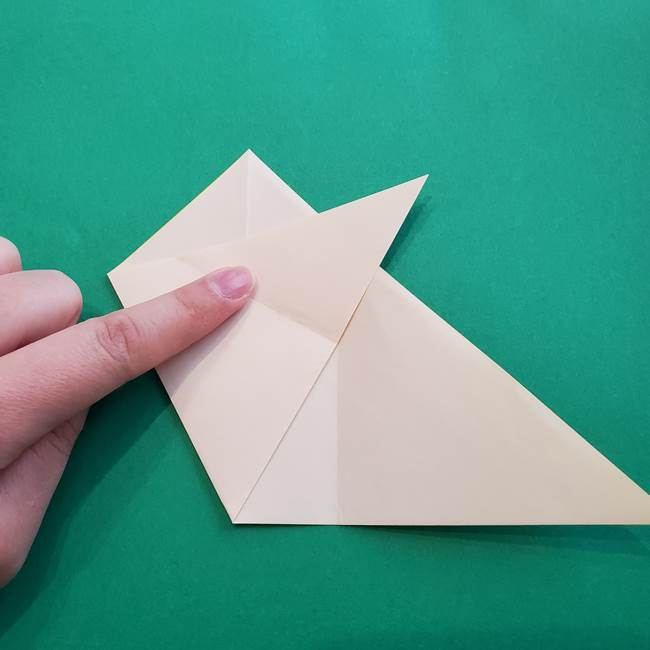 水仙の折り紙 平面の折り方作り方①準備(10)