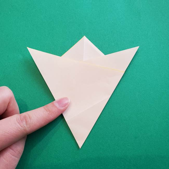 水仙の折り紙 平面の折り方作り方①準備(11)