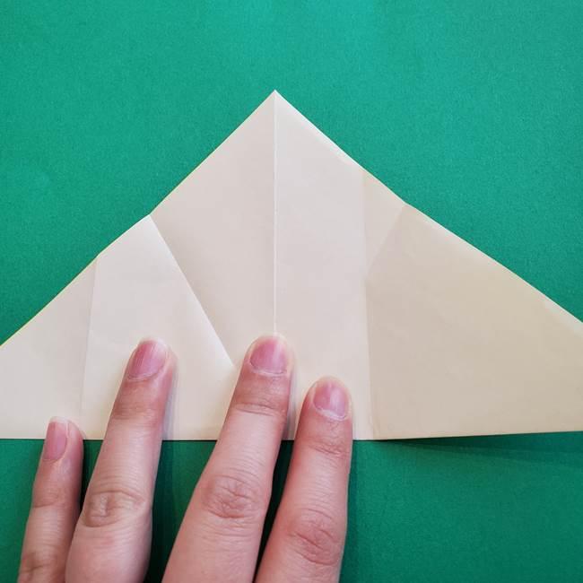 水仙の折り紙 平面の折り方作り方①準備(12)