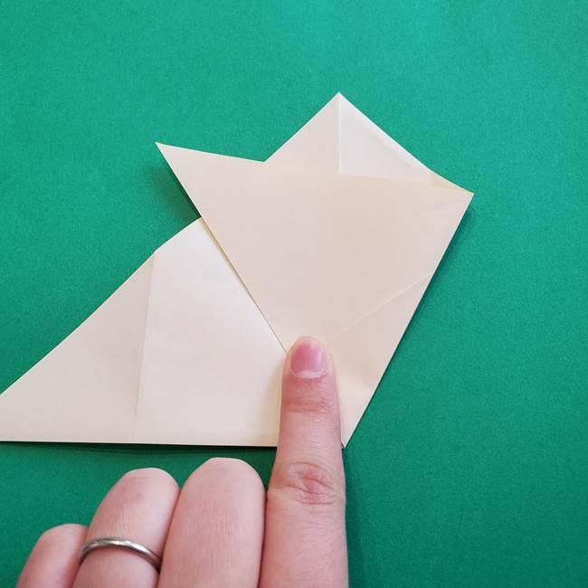水仙の折り紙 平面の折り方作り方①準備(13)