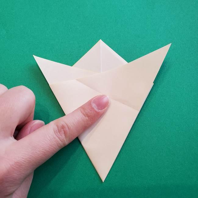 水仙の折り紙 平面の折り方作り方①準備(14)