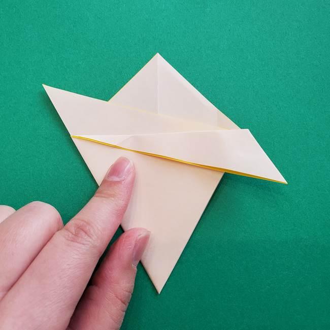 水仙の折り紙 平面の折り方作り方①準備(15)