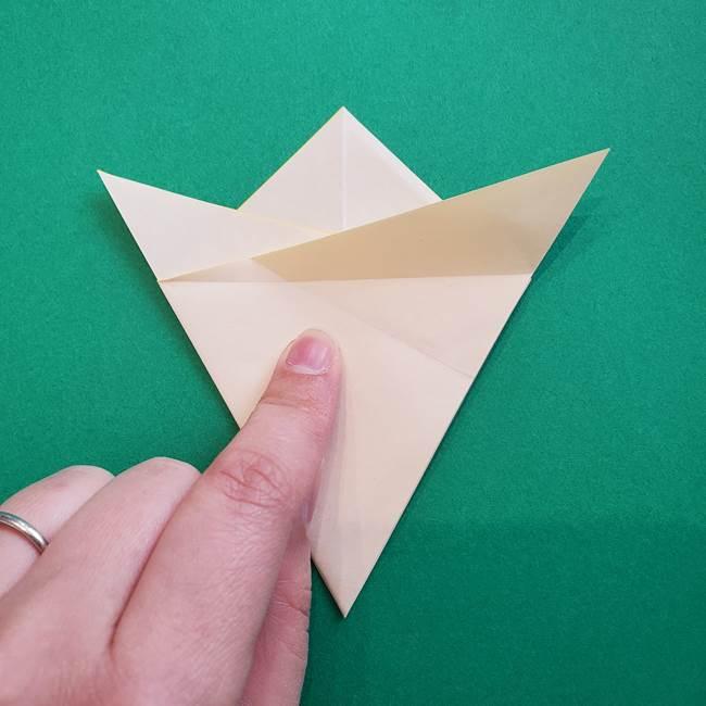 水仙の折り紙 平面の折り方作り方①準備(16)