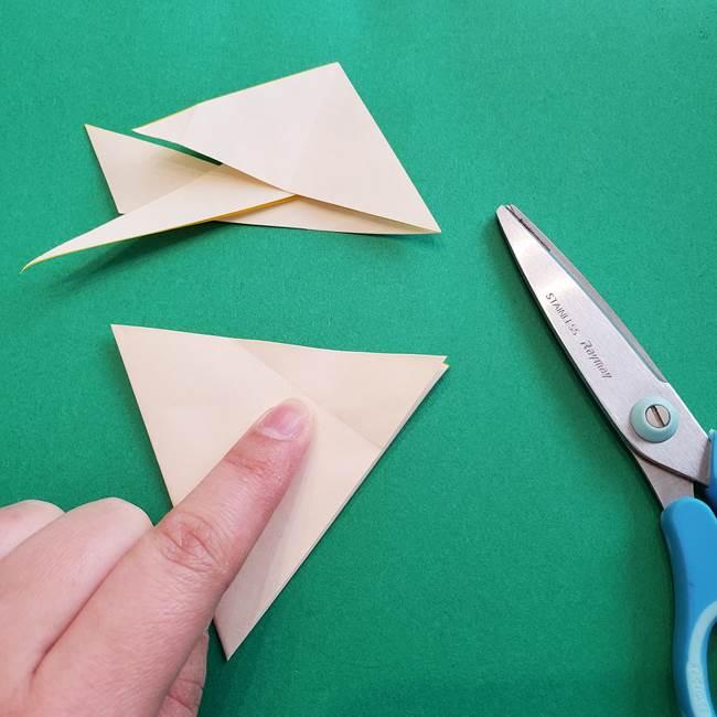 水仙の折り紙 平面の折り方作り方①準備(17)