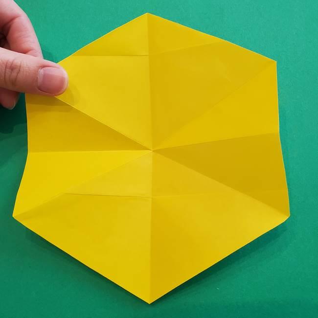 水仙の折り紙 平面の折り方作り方①準備(18)
