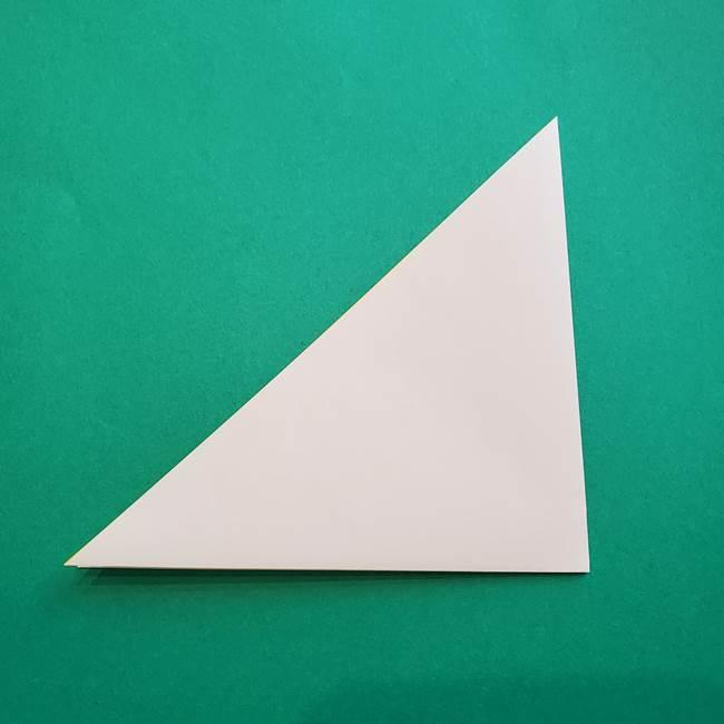 水仙の折り紙 平面の折り方作り方①準備(3)