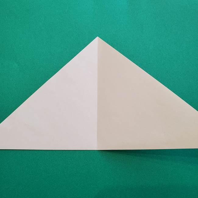 水仙の折り紙 平面の折り方作り方①準備(4)