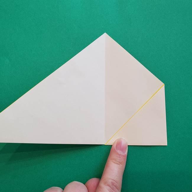 水仙の折り紙 平面の折り方作り方①準備(5)