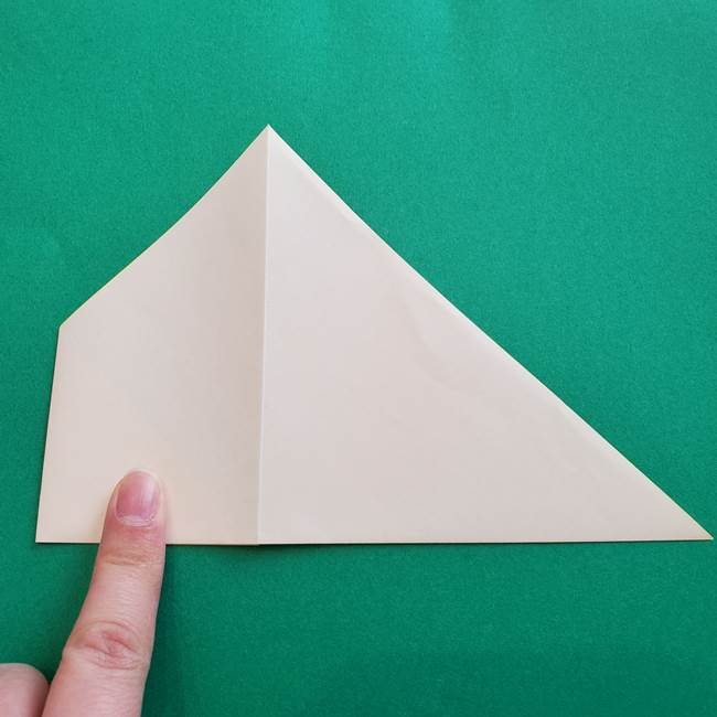 水仙の折り紙 平面の折り方作り方①準備(6)