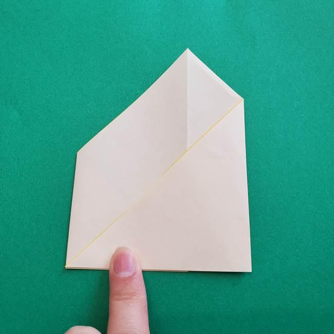 水仙の折り紙 平面の折り方作り方①準備(7)