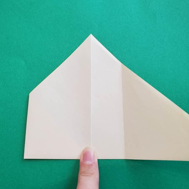 水仙の折り紙 平面の折り方作り方①準備(8)