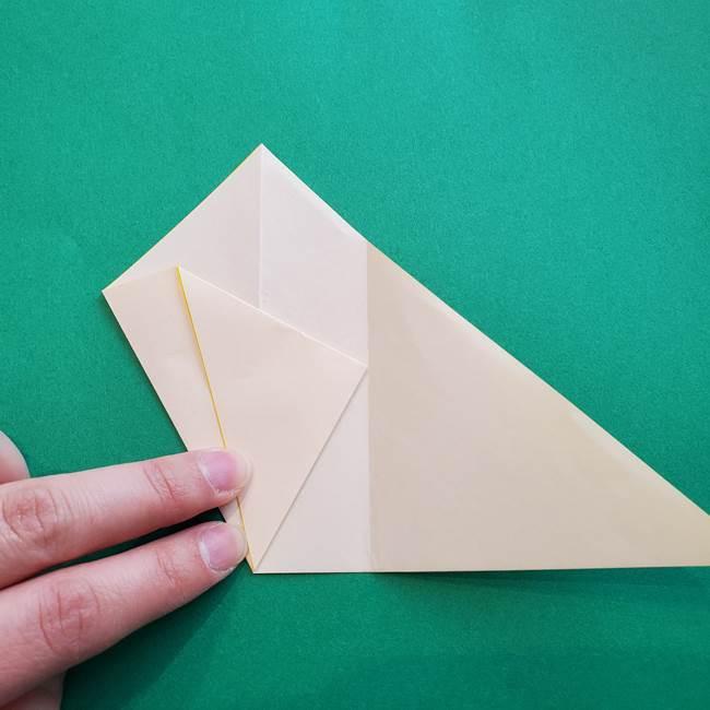 水仙の折り紙 平面の折り方作り方①準備(9)